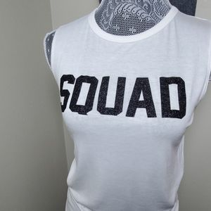 NWT■Sparkly SQUAD Cotton Muscle Tee